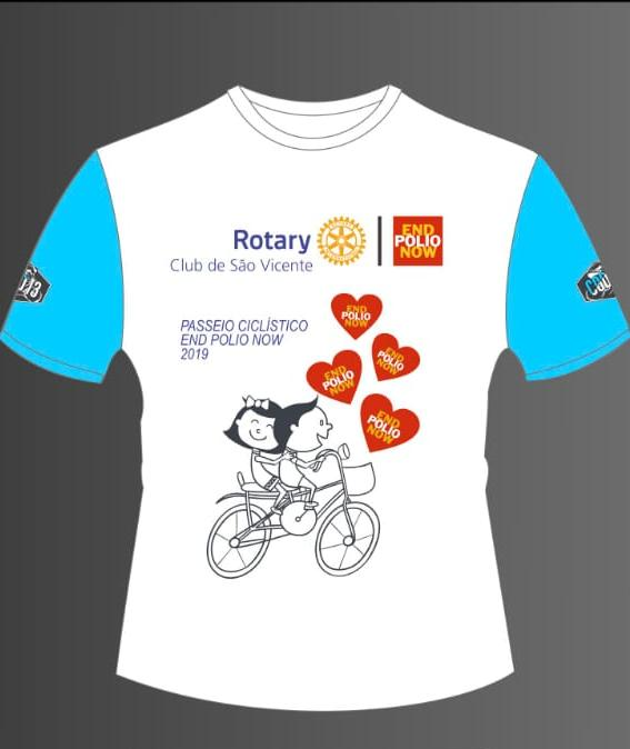 camiseta rotary end polio now