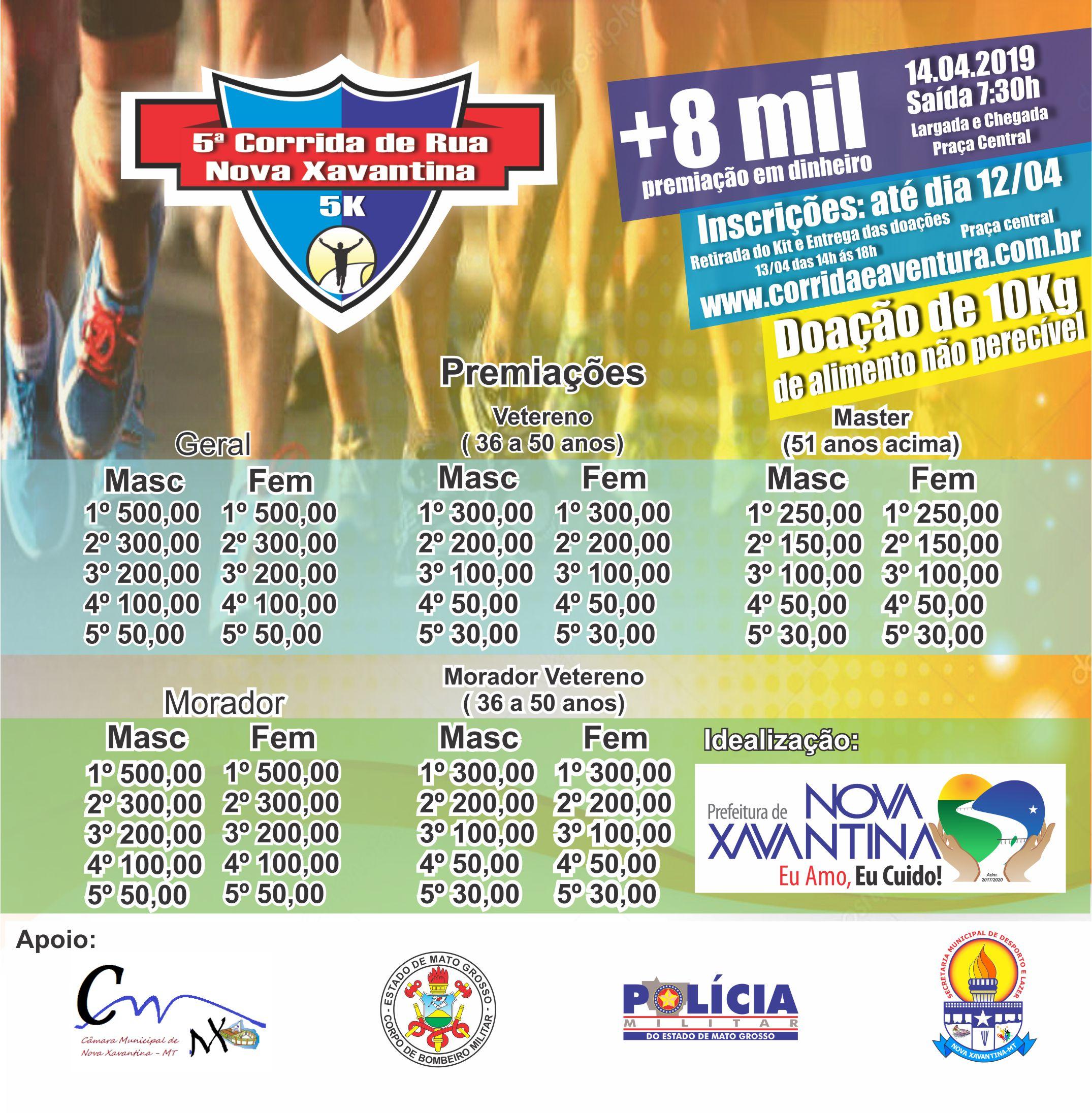 f924608de 5ª corrida de rua de Nova Xavantina